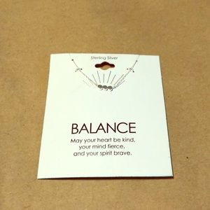 Sterling silver balance necklace NWT